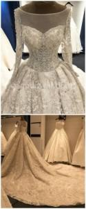 Big Long Train Luxury Real Photos Wedding Dresses Amanda Novias White Wedding Gowns Bridal Dresses