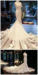 One-shoulder Wedding Dress, Wedding Dress,Wedding Dress,Wedding Gown,Bridal Gown,Bride Dresses, Mermaid Bridal Dress,Long Bridal Dresses,Lace Wedding From Mfprom