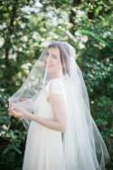 Bridal Juliet veil with blusher, wedding veil, heirloom Juliet cap veil, chapel and cathedral length veils, tulle bridal veil Style 821