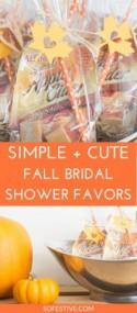 """Fallen In Love"" Fall Bridal Shower Favors"
