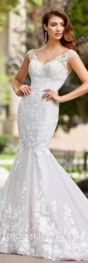 Lace & Tulle Trumpet Wedding Dress With A Train- 18276 Serenade
