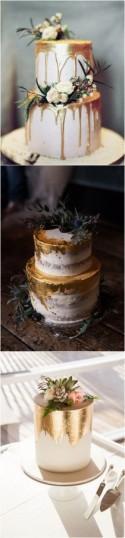 Trending-15 Creative Metallic Wedding Cakes For 2018
