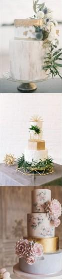 Trending-15 Creative Metallic Wedding Cakes For 2018 - Page 2 Of 2