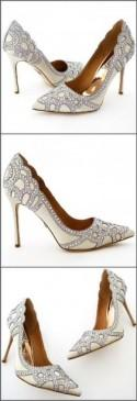 Badgley Mischka Rouge Wedding Shoes, Ivory