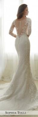 Tulle Soft Trumpet Wedding Gown - Sophia Tolli Y11702