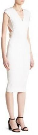 Victoria Beckham Open Back Fitted Dress