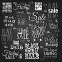 Black Friday Calligraphic Designs. Poster Sale.Typography. Vector illustration