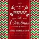 Chevron zigzag pattern for christmas party invitation card template