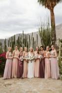 A Line Floor Length Sleeveless Layers Tulle Cheap Bridesmaid Dress B206