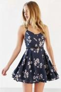 Cross Back Floral Chiffon Dress