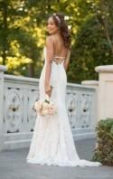 Boho Wedding Dress With Floral Accents