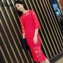 Elegant Vintage Attractive Hollow Out Crochet Slimming Summer Lace Formal Wear Dress - Bonny YZOZO Boutique Store
