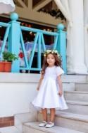 Boho Flower Girl Dress, Unique Flower Girl Dress, Flower Girl Dress, White Girl Dress, Ivory Flower Girl Dress, Dress Pattern,Rustic Wedding