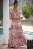 """Long sleeves Conservative Dress, Flower Print Frill Dress, Evening Boho Maxi Dress, """"Carrie"""" Winter Dress, Floral Romantic Maxi Dress"""