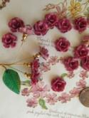 Pink Sweetheart Metal Roses Shabby Chic Painted Flowers