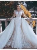 Luxus Weiße Brautkleider Mit Ärmel Spitze A Linie Hochzeitskleider Online Günstig Modellnummer: BA7402