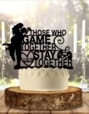 Those Who Game Together Stay Together Wedding Cake Topper