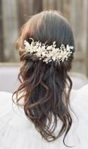 Bridal Headpiece, ELLA Bridal Gold Hair Clip, Swarovski Crystal Silver Hair Clip Wedding Comb, Bridal Headpiece, Bridal Headpiece Hair Clip