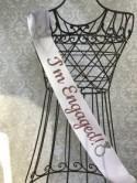 I'm Engaged! silver Glitter Diamond Ring Bachelorette party/ Engagement party/ bridal shower sash