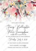 Watercolor wreath garden flower Baby Shower Invitation editable template card PDF 5x7 in online maker