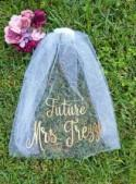 Bachelorette Veil - Bridal Shower Veil - Future Mrs Veil - Bachelorette Party - Mrs. Veil - Personalized Veil - Engagement Gift