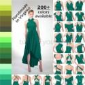 HIGH-LOW Infinity Dress, multiway dress, convertible dress, high-low bridesmaid dress, Custom Handmade, 200+ colors, Any Size & Length