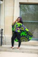 African Clothing For Women Purple And Green