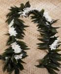 Maile Ti leaf Lei With Orchid