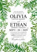 Greenery wedding invitation set watercolor herbal design PDF 5x7 in invitation editor