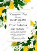 Lemon Engagement party Wedding Invitation suite template printable greenery PDF 5x7 in personalized invitation