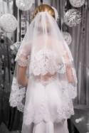 Veil in 2 tiers,Bridal Veil,Lace Wedding Veil,Wedding Veil,lace veil.