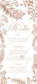 Gold Foil greenery menu design wedding invitation set herbal design PDF 5x7 in wedding invitation maker