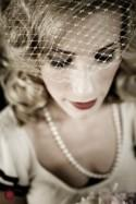 Wedding Accessories Metallic Birdcage Veil (Free U.S. Shipping) - blusher veil, halloween costume, french veil, gold, silver