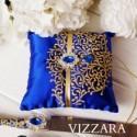 Ring Bearer Pillow Royal blue wedding Wedding ring pillow Royal blue and gold wedding Unique ring pillow ideas Royal blue wedding color