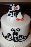 Penguin Wedding Cake Topper, Penguin Bride and Groom, Bridal Shower Gift, Custom Cake Topper, Penguin Wedding, Penguin Themed Party, Baby