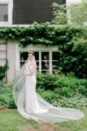 wedding veil, bridal veil, ivory cathedral wedding veils, 1 tier wedding veil, one layer veil, simple veil, cathedral veil - TAMARA