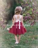tulle flower girl dress, lace flower girl dress, bohemian flower girl dress, boho flower girl dress, ivory flower girl dress, beach, country