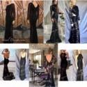 Mermaid Bridesmaid Dress, Floor Length Prom, Wedding Dress, Bridal Gown Black Lace Dress, Formal Cocktail, Elegant, Party Dress Evening Gown