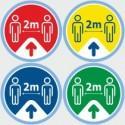Floor stickers arrow sign decals, walk this way directional flux 2 metre social distancing stickers for Floor, Shop, Retail, School signs