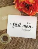 Father of the bride gift from bride to the first man I ever loved card dad wedding gift father of the bride card dad wedding day card to dad