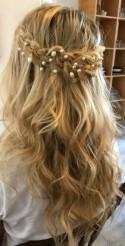 Bridal hair vine Rose gold hair vine Babys breath Bridal hair piece Wedding hair piece Bridal headpiece Pearl Hair Vine Wedding headpiece