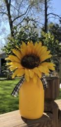 Sunflower Mason Jar Centerpiece