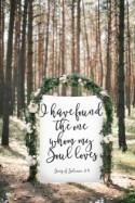 Song of Solomon, I Have Found the one Whom my soul loves, Wedding Welcome Sign, Wedding Photo Backdrop, Gold wedding sign, boho wedding