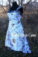 CAMO dress with HIGH LOW hemline+Color lining  your choice of colors