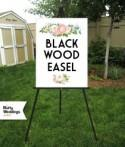 "BLACK Easel . Wedding Sign Easel Floor Stand Displays Large Acrylic Sign Foam Board Sign Large Canvas Sign Wood Sign . 16""x20"" to 30""x40"""