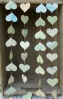 Wedding Decoration made from a Vintage Atlas, Heart Garland, Paper Garland, Map Garland, 10 feet long