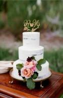 Two letters cake topper wedding date  Monogram cake topper for wedding Two initial wedding cake topper Wedding date cake toppers