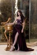 Long Bridesmaid dress in Marsala color / Formal beaded dress Elegant taffeta dress Couture Sleeveless dress Prom Ball gown Evening dress