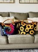 Sunflower, Purse, Sunflower tote bag, sunflower purse, tie dye purse, tie dye tote, tie dye sunflower, beach bag, sunflower hand bag