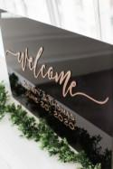 Acrylic Wedding Sign, Custom Acrylic Wedding Welcome Sign, Clear Wedding Sign, Plexi Glass Sign, Wedding Sign, Modern Wedding Decor